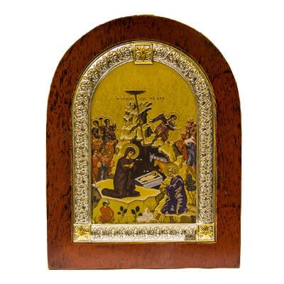 Christmas Mary and Jesus Icon - Direct from Jerusalem