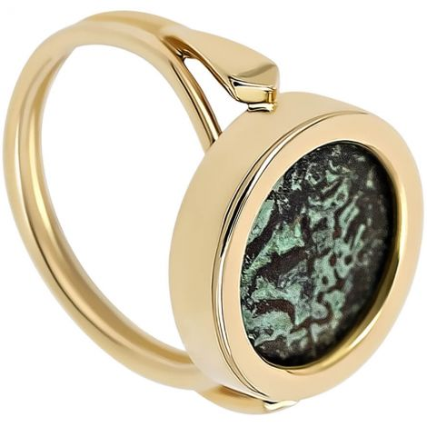 Widow's Mite Coin in a Classic 14k Gold Ring - Made in Israel