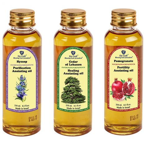 Powerful 'Deliverance' Anointing Oil set from Jerusalem - 3 x 250 ml