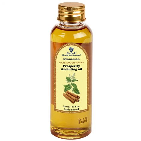 Healing Anointing Oil - Cinnamon - Made in Jerusalem - 250 ml
