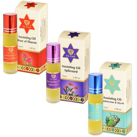 Ein Gedi Anointing Oils 3 x Roll-On 10ml Set - Made in Israel