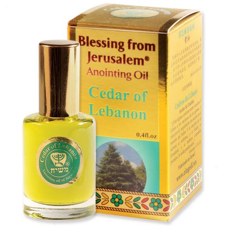 'Cedar of Lebanon' Anointing Oil - Blessing from Jerusalem - Gold 12 ml