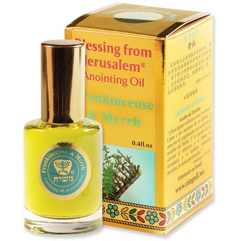 'Frankincense and Myrrh' Anointing Oil - Blessing from Jerusalem - Gold 12 ml