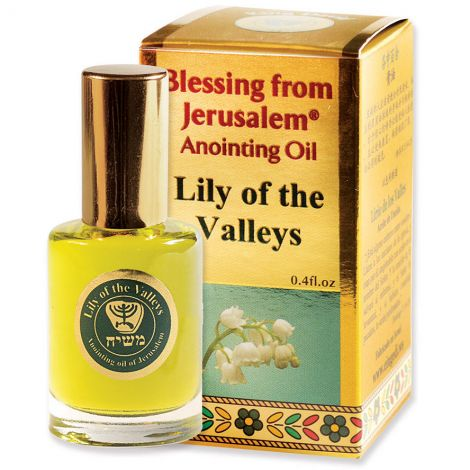 'Lily of the Valley' Anointing Oil - Blessing from Jerusalem - Gold 12 ml