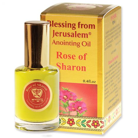 'Rose of Sharon' Anointing Oil - Blessing from Jerusalem - Gold 12 ml