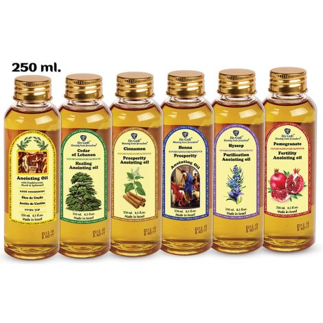 Set of 6 Powerful Healing Anointing Oils from Jerusalem - 250 ml