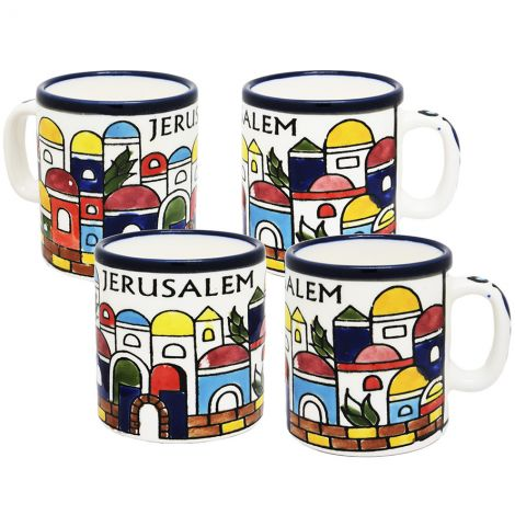 Jerusalem' Armenian Ceramic Espresso Cup Set