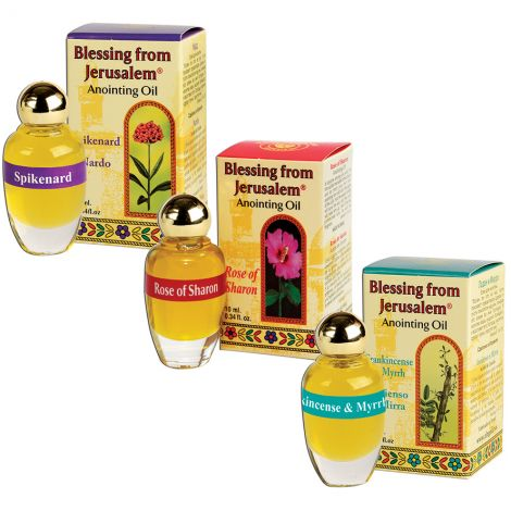 Blessing from Jerusalem Powerful Anointing Oil Set - Made in Israel