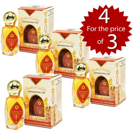 4 For 3 SPECIAL!!! Frankincense and Myrrh Anointing Oil from Israel