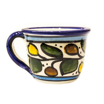Hand Painted Ceramic Coffee Cup From Jerusalem