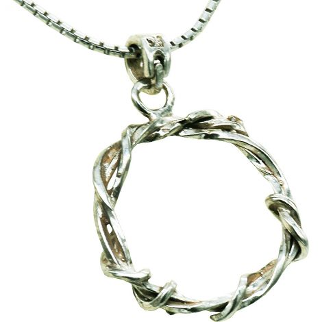 Crown of Thorns' Sterling Silver Pendant - Made in Jerusalem