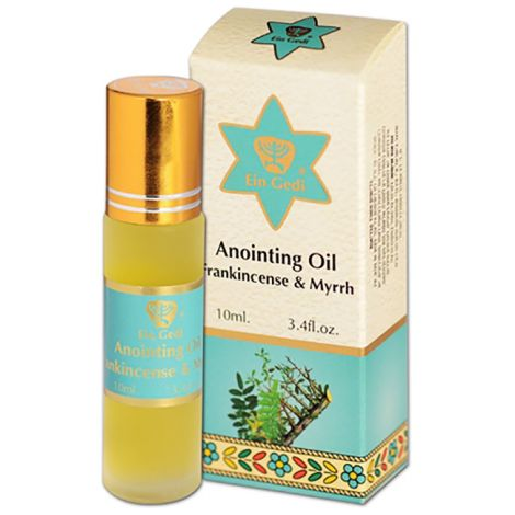 Frankincense & Myrrh Anointing Oil - Roll-On Prayer Oil from Jerusalem - 10 ml