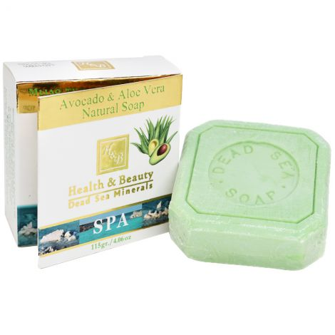 Avocado & Aloe Vera Natural Soap with Dead Sea Minerals - Made in Israel