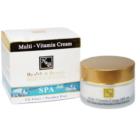 H&B Dead Sea Minerals Multi-Vitamin Cream - Made in Israel