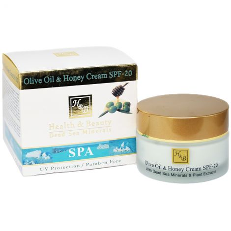 H&B Dead Sea Minerals - Olive Oil and Honey Cream - Made in Israel