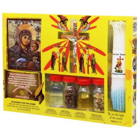 Blessings from Jerusalem - Holy Land Elements Kit with Crucifix