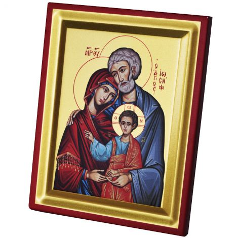 The Holy Family - Byzantine Icon Replica - Silk Screen on Wood (large)