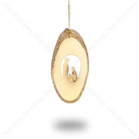 'Holy Family' Christmas Tree Decoration - Wooden Holy Land Gift