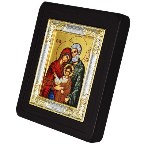 The Holy Family - Replica Byzantine Icon - Silver Plated