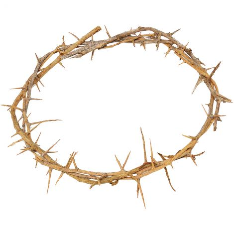 Actual 'Crown of Thorns' as Put on Jesus Head - Made in Jerusalem (top view)