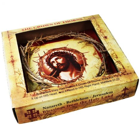 Authentic 'Crown of Thorns' in Display Box - Made in the Holy Land