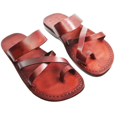 Biblical Jesus Sandals - 'Apostles' - Made in Bethlehem - Leather
