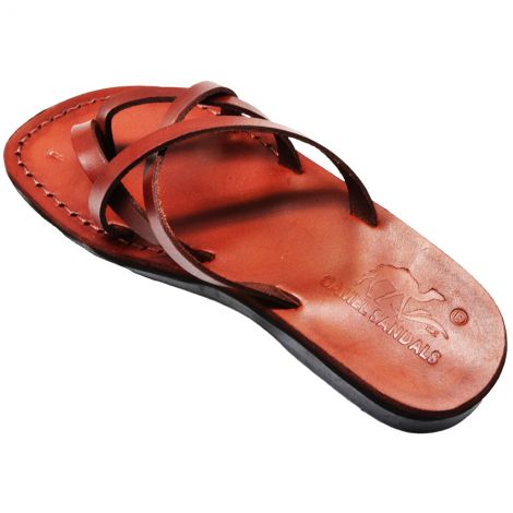 Biblical Jesus Sandals 'Revelation' Made in the Holy Land - Leather (angle)
