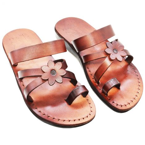 'Eve' Biblical Sandals - Made in Israel - Camel Leather