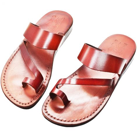 Biblical Sandals 'King David' - Made in Israel - Camel Leather