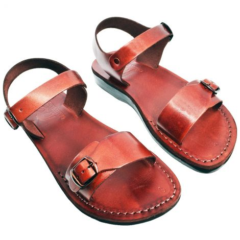 Biblical Jesus Sandals 'Maranatha' - Made in Bethlehem - Leather