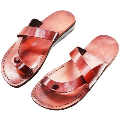 Biblical Jesus Sandals 'Nazarene' - Made in Bethlehem - Leather