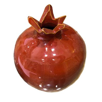 Armenian Ceramic Red Pomegranate - Made in Israel - 3""