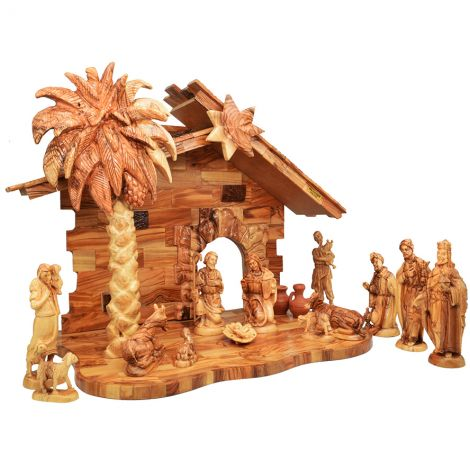 Luxury Olive Wood Nativity Creche Set - Made in Bethlehem