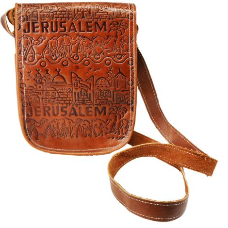 Handmade Leather 'Jerusalem Old City' Satchel from the Holy Land
