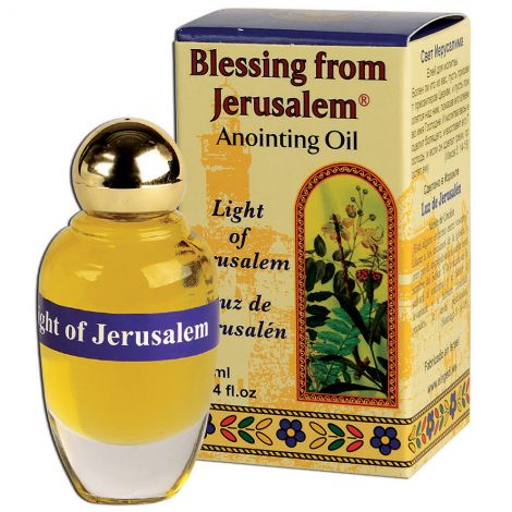 'Light of Jerusalem' Anointing Oil - Holy Prayer Oil from Israel - 12 ml