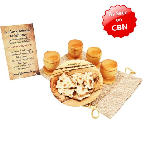 The Lord's Supper' Engraved Olive Wood Dish