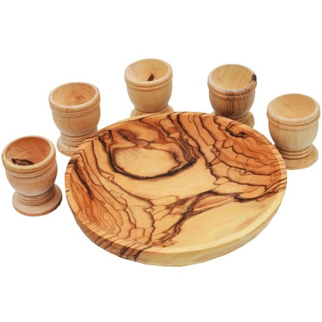 The Lord's Supper - Olive Wood Set - Made in the Holy Land