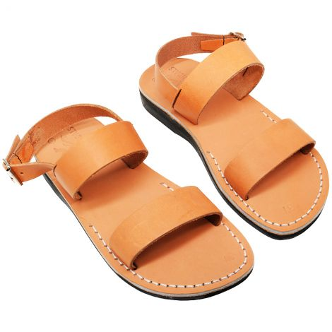 'Maranatha' Jesus Sandals - Made in Israel - Tan Leather