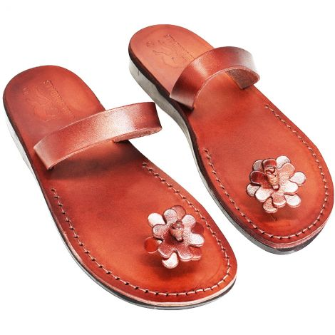 Mary Magdalene' Biblical Jesus Sandals - Made in Israel - Leather