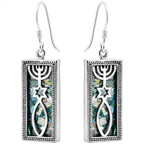 Roman Glass 'Grafted In' Messianic Earrings - Made in Israel