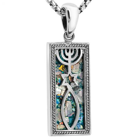 Roman Glass 'Grafted In' Messianic Necklace from Israel