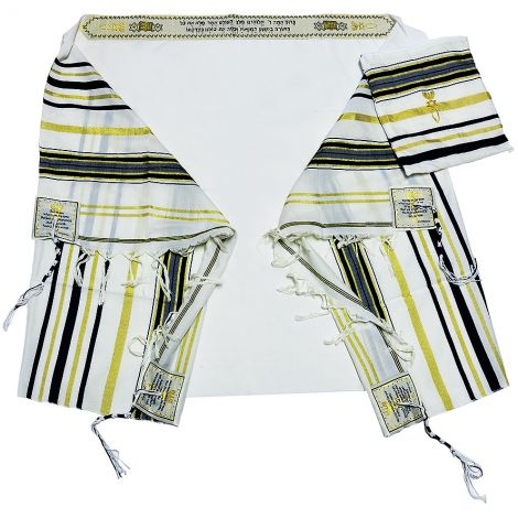 Messianic 'Grafted In' Prayer Shawl - Tallit from Israel - Black