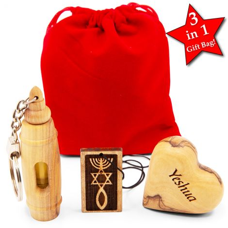 'Messianic - Grafted In' Gift Set from Israel in Velvet Bag