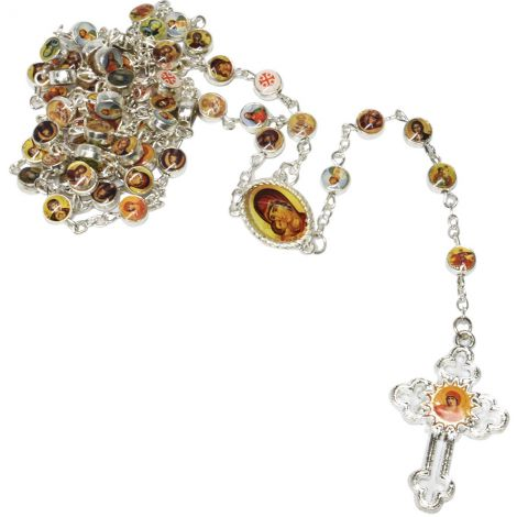 Rosary Beads with Multiple Icons and Cross - Made in Jerusalem
