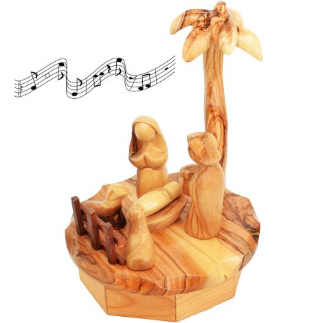 Musical Christmas Set - Olive Wood from Bethlehem - 6.5 inch