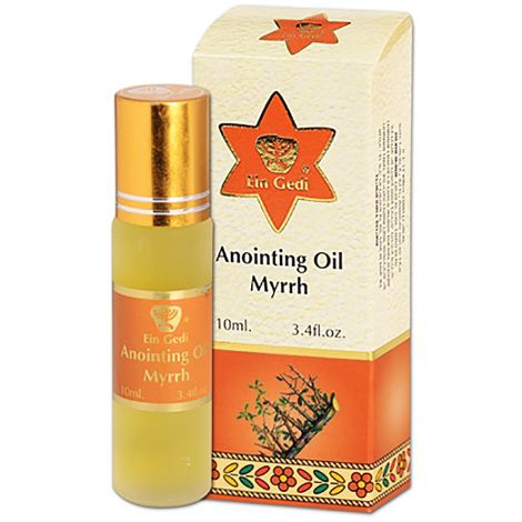 Myrrh Anointing Oil - Roll-On Prayer Oil from Jerusalem - 10 ml
