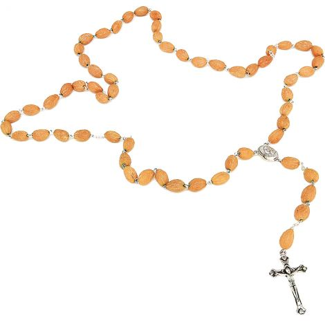 Olive Seed Rosary from the Trees around Bethlehem - Holy Earth with Crucifix