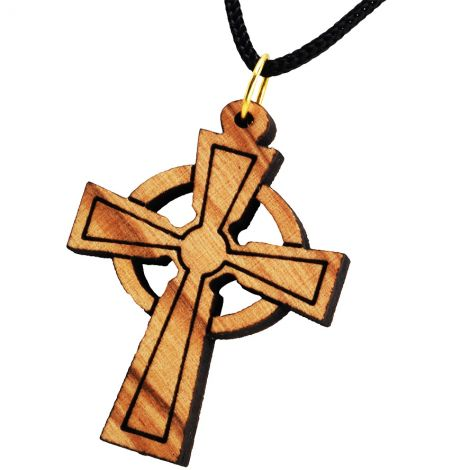 Olive Wood 'Cross' Pendant - Made in the Holy Land