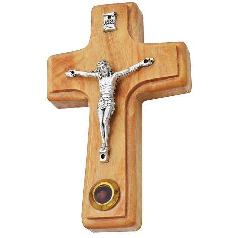 "Crucifix' Olive Wood Cross Wall Hanging with Incense - 5"" inch"