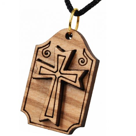 Olive Wood 'Knights Templar Cross' Pendant from Jerusalem